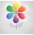 Flower buttons art background vector