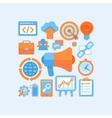 Flat internet marketing concept vector