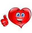 Thumb up heart vector