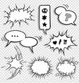 0030 comic elements set2 vector