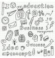 Business idea doodles icons set vector