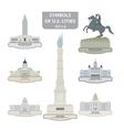Symbols of us cities vector
