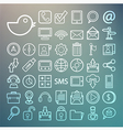 Communication and transportaion icon set retina vector