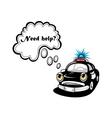 Cartoon police car character vector