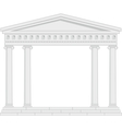 Portico an ancient temple vector
