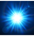 Abstraction light with lens flare vector