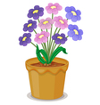 Flowers and a pot vector