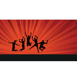 Jumping background people vector
