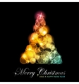 Colorful stylized christmas tree vector