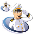 Marine captain vector