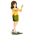 A working girl vector