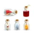 Set of jars vector