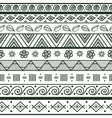 Tribal striped hand drawn seamless pattern vector