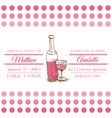 Wedding vintage invitation card - wine theme vector