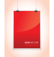 Red paper sign vector