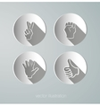 Paper icons hands vector