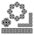 Irish celtic design - patterns knots and braids vector