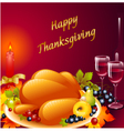 Thanksgiving background with turkey vector