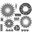 Round ornamental frame vector