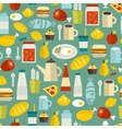 Seamless pattern with simple food vector