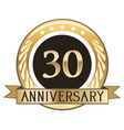 Thirty year anniversary badge vector
