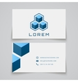 Business card template abstract cubes vector