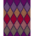 Color knitted pattern vector