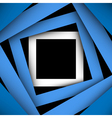 Blue paper square and frame background vector
