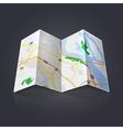 Travel map vector