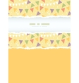 Party decorations bunting vertical torn frame vector