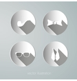 Paper hipster icons vector