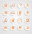 Button shadows book icons vector