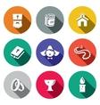 Religion icon collection vector