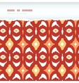 Red and gold ikat geometric frame horizontal torn vector
