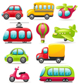 Cartoon transport set vector