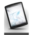 Tablet pc with abstract smoke background vector