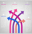 Five bright different way infographics vector