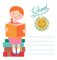 In love with books back to school card design vector