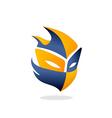 Mask helloween face game logo vector