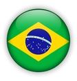Brazil flag glossy button world football vector