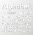 Decorative paper alphabet vector