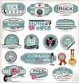 Rock music labels vector