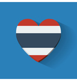 Heart-shaped icon with flag of thailand vector