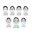 Emotion cartoon face vector