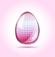 Pinky glass egg easter concept vector