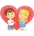 Girl boy heart isolated vector