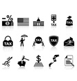Black tax icons set vector