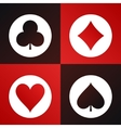Playing cards suits icons made in modern flat vector