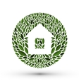 House and nature logo icon emblem template vector