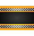 Taxi cab background racing blank template vector